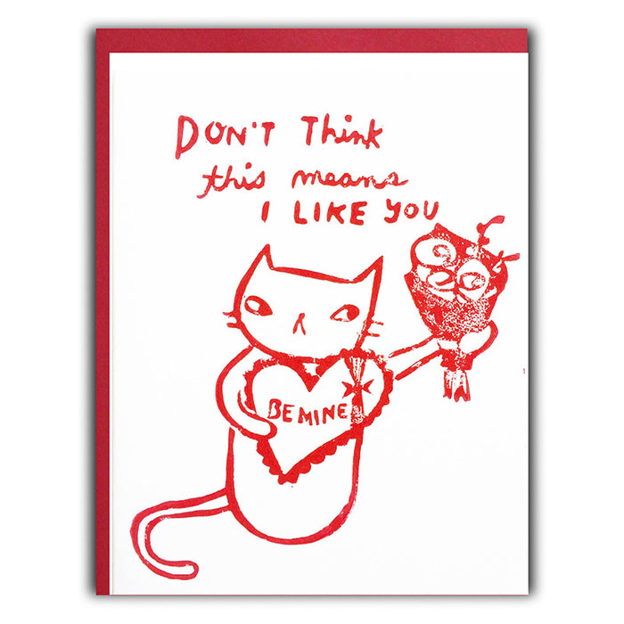 Reluctant Kitty Valentine Card
