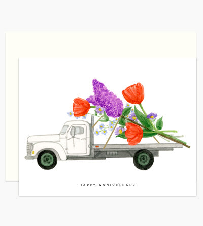Truckload of Anniversary Flowers