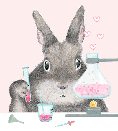 Bunny Perfect Chemistry Card