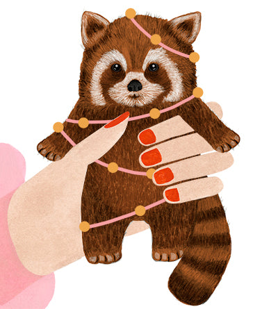 Red Panda Birthday Card