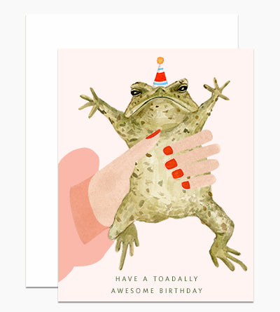 Toadally Awesome Birthday Card