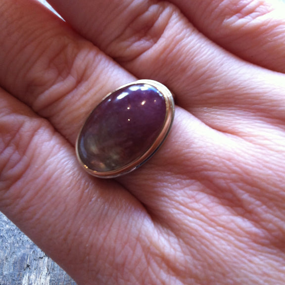 Smooth Oval Pink Tourmaline Ring