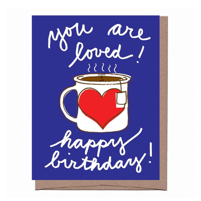 Cup of Tea Scratch n Sniff Birthday Card