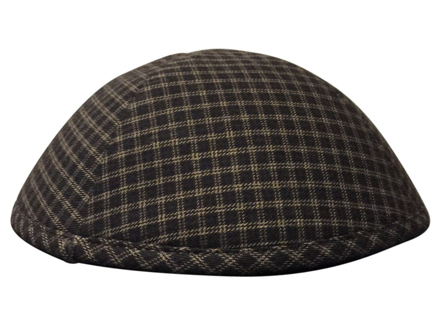 A unique Kippah Yarmulke with a black & grey small box pattern.