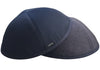 Two stylish navy & grey reversible high quality iKippahs.