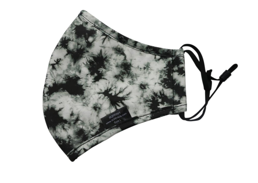 IKIPPAH BLACK & WHITE TIE DYE MASK