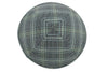 A plaid suit-like pattern iKIPPAH brand yarmulke top view.