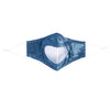 IKIPPAH TRANSPARENT DENIM TIE DYE MASK