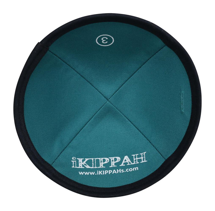 A rich fabric dark navy blue iKippah.
