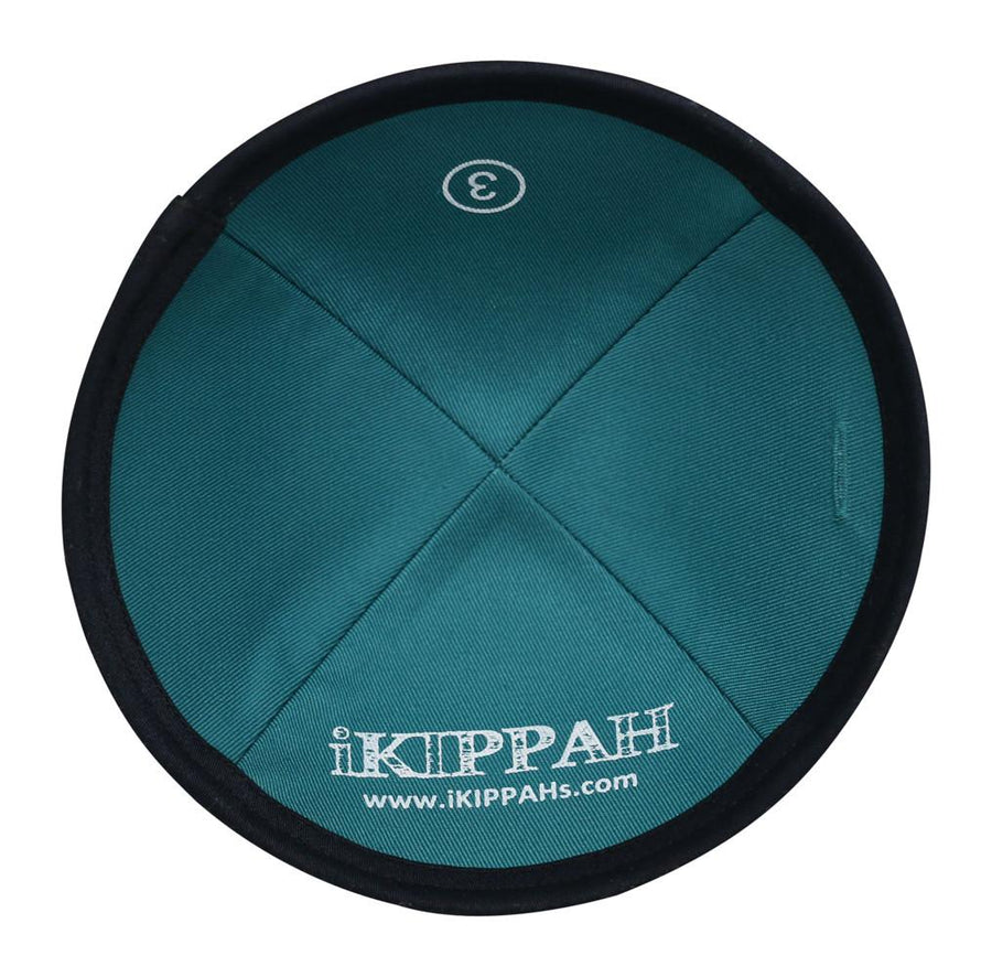 Navy blue iKIPPAH brand yarmulke in comfortable cotton.