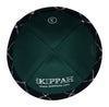 A stylish navy plaid high quality iKippah inside view.