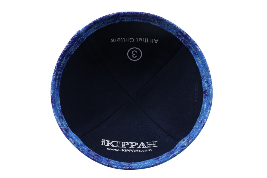 IKIPPAH ROYAL BLUE - ALL THAT GLITTERS YARMULKE