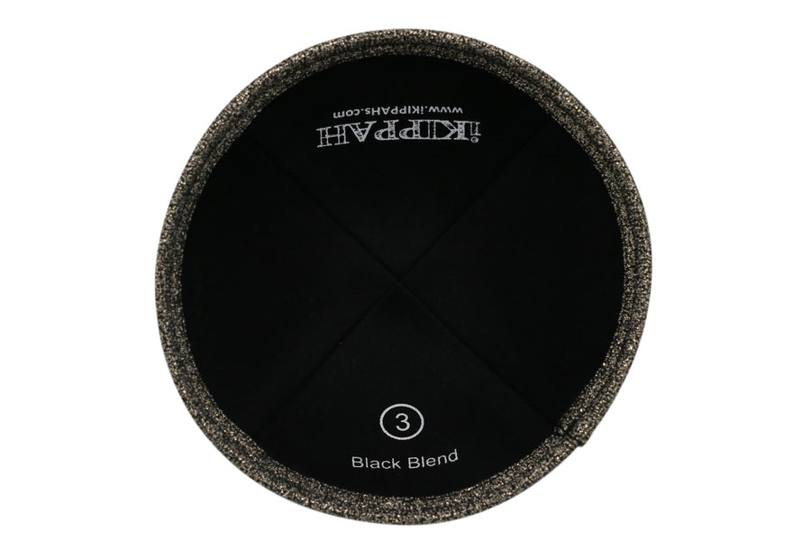 A black blend colored iKIPPAH brand yarmulke.