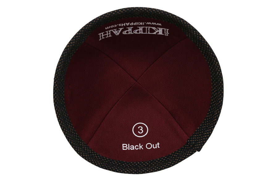 iKIPPAH Black Out Yarmulke