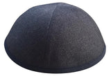A reversible iKIPPAH yarmulke called the iFLIP with the grey side shown.