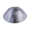 IKIPPAH SHINY SILVER LEATHER YARMULKE