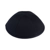IKIPPAH BLACK COTTON - 6 PANEL YARMULKE