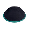 IKIPPAH DENIM W/ PERSIAN GREEN RIM YARMULKE