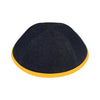 IKIPPAH DENIM W/ YELLOW RIM YARMULKE