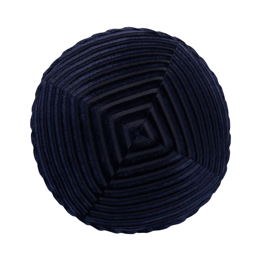 IKIPPAH STRIPED VELVET - NAVY YARMULKE