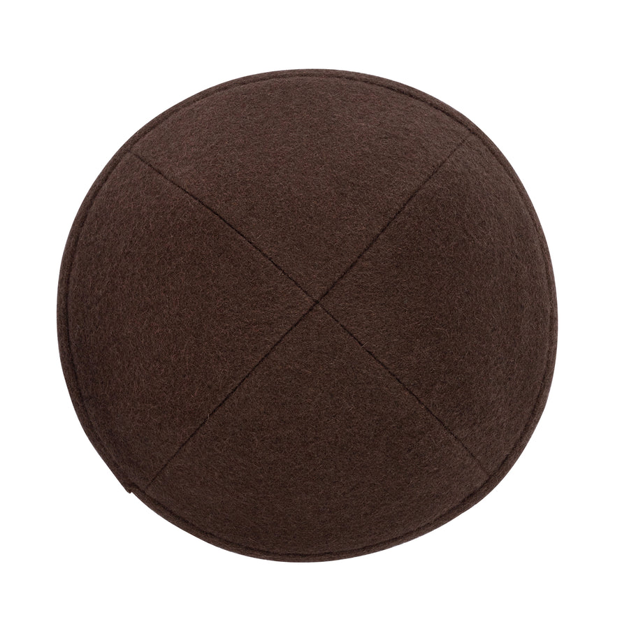 IKIPPAH BROWN WOOL YARMULKE