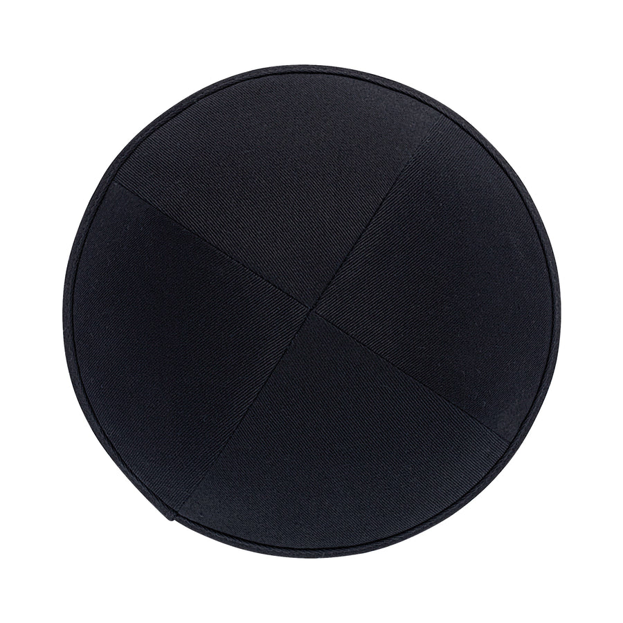 IKIPPAH BLACK COTTON YARMULKE
