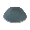 IKIPPAH SEA GREEN W/ GRAY RIM YARMULKE