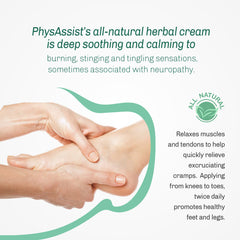 "A- PhysAssist Foot Pain Cream with Tea Tree And Arnica. ""Ideal to Help Ease the Discomfort Of Neuropathy Symptoms"""