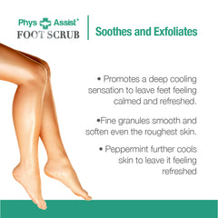 PhysAssist Foot Scrub with Tea Tree & Peppermint