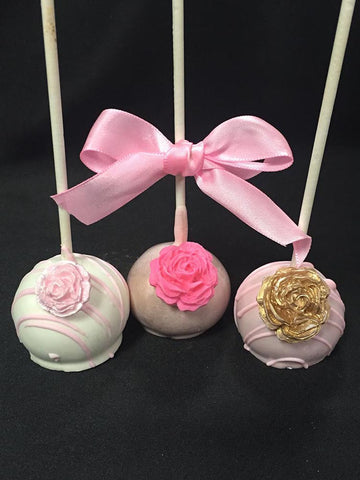 Cake Pop with Chocolate Rose