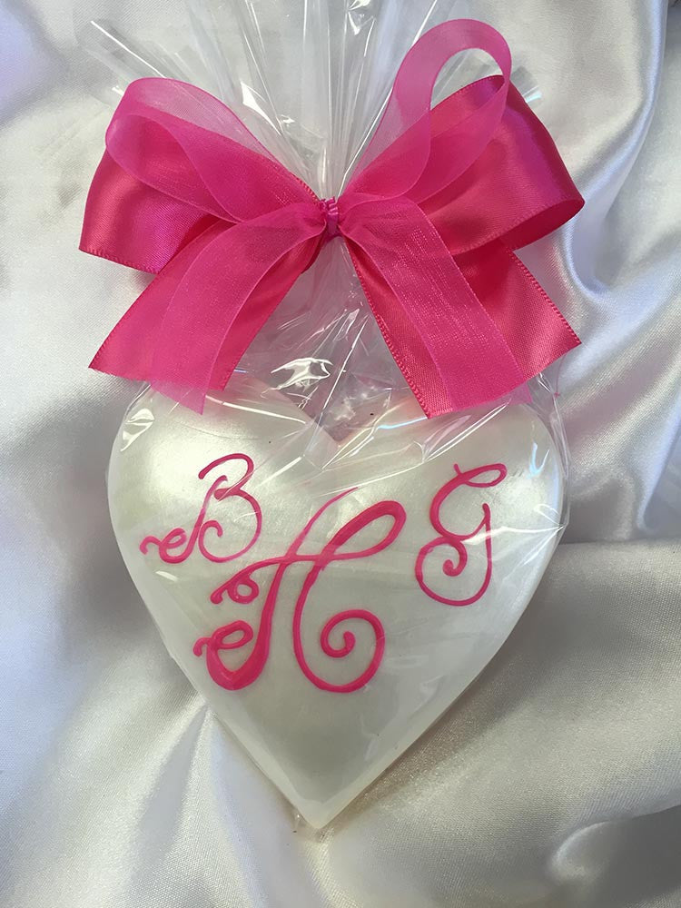 Monogram Pearlized Heart