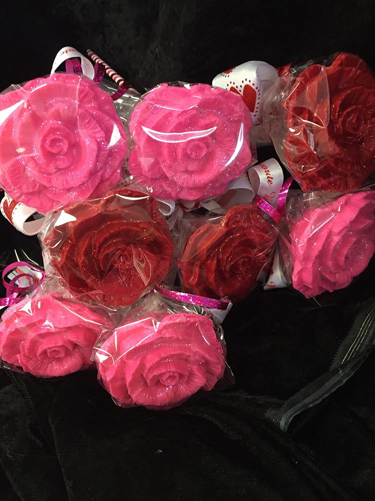 Solid 3D Chocolate Roses