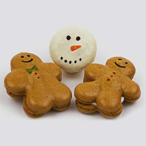 Gingerbread Men and Snowmen Macarons