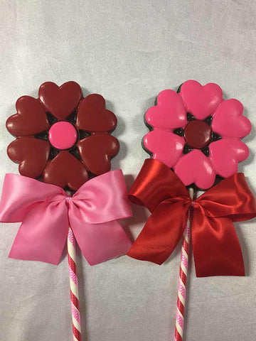 Our Signature Heart Flower Chocolate Crispy Lolly