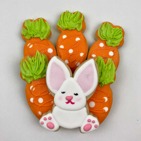 Easter Bunny & Carrot Patch Cookies