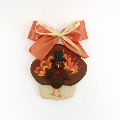 Decorated Turkey Sugar Cookie