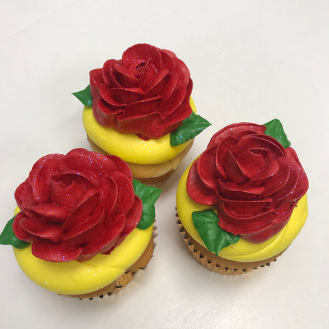 Red Buttercream Rose