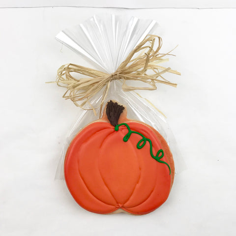 Orange Pumpkin Sugar Cookie, 4""