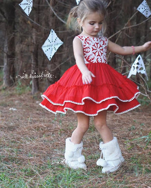 Well Dressed Wolf Snowflake Dress in Peppermint *RENTAL*