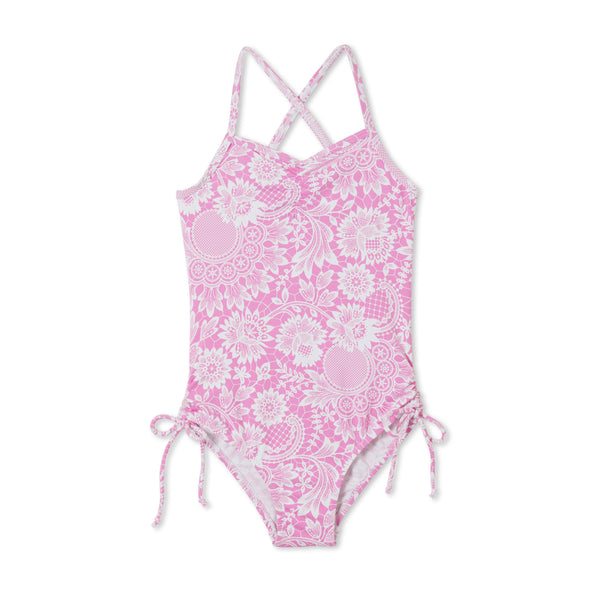 Stella Cove Pink Lace Swimsuit