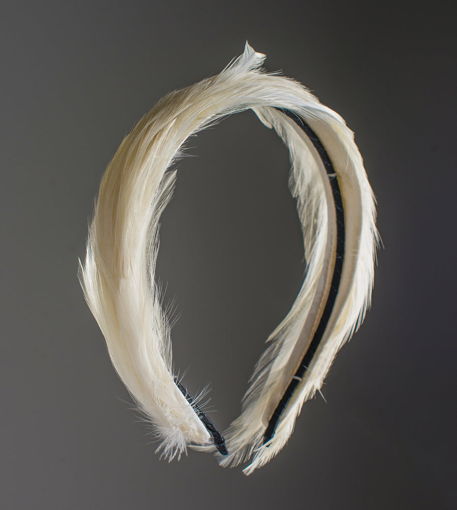 Amour Bows Feather Experience in White
