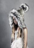 Chapel & Rose Fur Lined Pixie Hat *RENTAL*