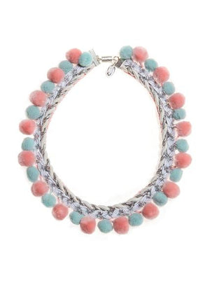 Modern Queen Kids Sparkle Pom Pearls Necklace