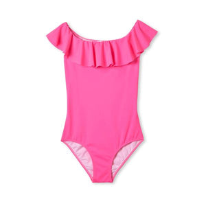 Stella Cove Flared Neon Pink Swimsuit