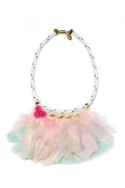 Modern Queen Kids Pastel Feathers Necklace