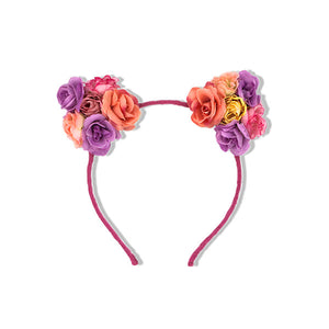 Milk & Soda Rose Kitty Headband in Pink
