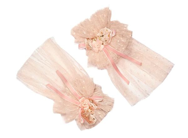 Modern Queen Kids Pretty Party Cuffs in Blush
