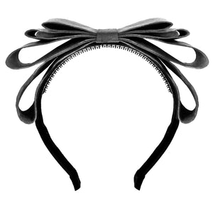 Amour Bows Flame Headband in Grey
