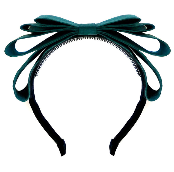 Amour Bows Flame Headband in Teal