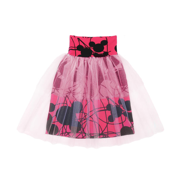 EFVVA Miss Mouse Tulle Skirt in Magenta